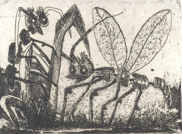 Mazel und Broeche - 16 poèmes de Jo Verbrugghen, 8 gravures - 58 exemplaires, Editions Colibrant - Deurle