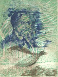 Eaux sombres - Poème d'Emile Verhaeren – 1 gravure à l'aquatinte – 25 exemplaires – Editions Cercle d'Amis de la Culture flamande – Paris