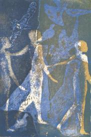 Nykta - Avant-propos de Roger Caillois - Claire Laffay, Dominique Autié, François Rivière,Hugues C . Pernath et Peter Handke, 11 aquatintes - 100 exemplaires,Editions d'Art Agori, Paris