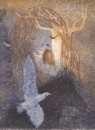 Laatste Brief rondom Liefde en Dood - Texte de Jef Geeraerts 4 gravures à l'aquatinte – 60 exemplaires, Editions Vrienden van de Zwarte Panter – Antwerpen