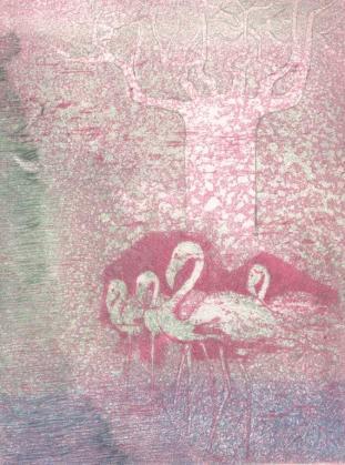 Antwerpen geschilderd en geschreven – Een symbiose - Texte de Monika Van Paemel, 4 gravures à l'aquatinte – 110 exemplaires, Editions Kredietbank – Antwerpen