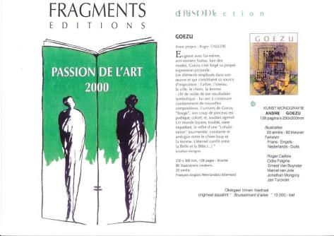 """Passion de l'art"", Editions Fragments, 2000"